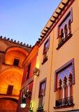 Moorish architecture, colors of Cordoba at sunset, Spain Stock Photography