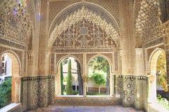 Moorish architecture of the Nasrin Palace, The Alhambra Stock Photo