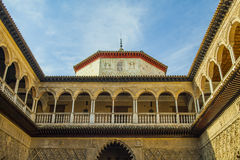 Moorish architecture in Seville Royalty Free Stock Photo