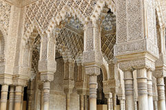 Moorish art and architecture inside the Alhambra royalty free stock photography