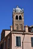 Moorish bell tower in Venice. Santa Fosca campanile, built in a moorish and byzantine style Royalty Free Stock Images