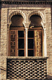 Moorish brick window Stock Images