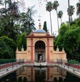 Gardens of the Royal Alcazar of Seville stock photography