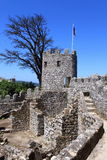 Moorish castle. In Sintra, Portugal royalty free stock images