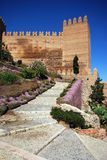 Moorish castle, Almeria, Andalusia, Spain. Steps and gardens leading to the Moorish Castle, Almeria, Costa Almeria, Almeria Province, Andalusia, Spain, Western Royalty Free Stock Photography