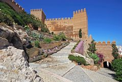 Moorish castle, Almeria, Andalusia, Spain. Stock Image