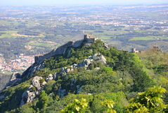 Moorish castle early in the morning Royalty Free Stock Photos