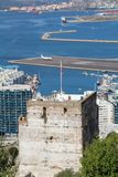 The Moorish castle on Gibraltar Royalty Free Stock Image