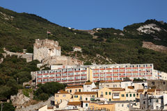 Moorish castle in Gibraltar Royalty Free Stock Photo