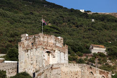 Moorish castle in Gibraltar Stock Image