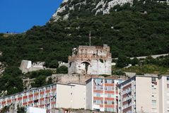 Moorish Castle, Gibraltar. Royalty Free Stock Photography