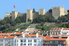 Moorish castle in Lisbon Stock Images