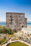 Moorish Castle's Tower of Homage in Gibraltar Stock Photos