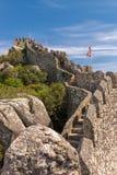 Moorish castle scenery - Sintra Stock Photos