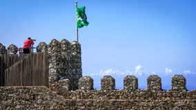 Moorish castle scenery - Sintra Royalty Free Stock Image