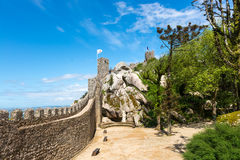 Moorish castle scenery - Sintra, Portugal Royalty Free Stock Image