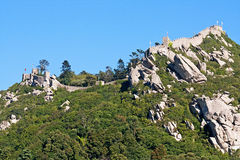 Moorish castle of Sintra. In a sunny day Stock Image