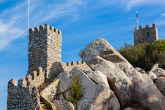Moorish castle, Sintra Royalty Free Stock Image