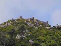 Moorish Castle in Sintra Royalty Free Stock Photos