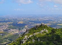 Moorish Castle in Sintra Royalty Free Stock Images