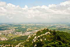 Moorish castle in Sintra, Portugal Royalty Free Stock Image