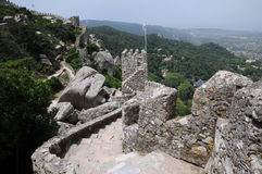 Moorish castle in Sintra Stock Images