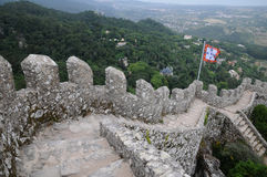 Moorish castle in Sintra Stock Photo