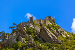 Moorish castle in Sintra - Portugal Royalty Free Stock Image
