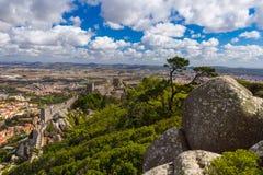 Moorish castle in Sintra - Portugal Royalty Free Stock Photo