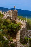 Moorish castle in Sintra - Portugal Stock Photo