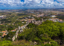 Moorish castle in Sintra - Portugal Royalty Free Stock Image