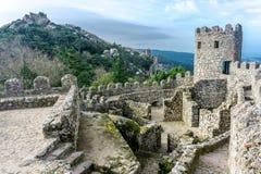 Historic Moorish Castle in Sintra Royalty Free Stock Photography