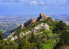 The Moorish castle, Sintra, Portugal Royalty Free Stock Image