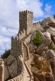 Moorish castle in Sintra - Portugal. Architecture background Stock Photos