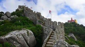 Moorish Castle of Sintra stock footage