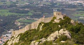 Moorish Castle in Sintra,  Portugal Stock Image