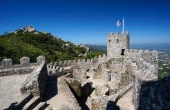 Moorish Castle in Sintra, Portugal. Walls of Moorish Castle in the Sintra hills, Portugal Stock Photo