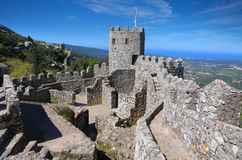 Moorish castle at sunny morning Royalty Free Stock Photo