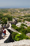 Moorish Castle. The view from the Moorish Castle ruined walls royalty free stock photo