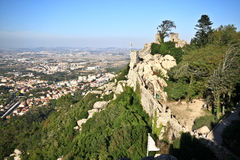 Moorish Castle walls Royalty Free Stock Image