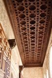 Moorish ceiling, Alhambra Palace, Granada. Moorish ceiling in the North Pavilion of the Generalife, Palace of Alhambra, Granada, Granada Province, Andalusia royalty free stock images
