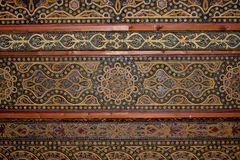 Moorish ceiling, Mosque-Cathedral of Cordoba. Stock Photos