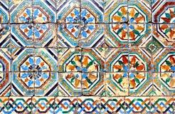 Moorish ceramic tiles. (circa 14th century), Andalusia, Spain Stock Photos