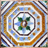 Moorish ceramic tiles. In the Real Alcazar, Seville stock photography