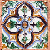 Moorish ceramic tiles. In the Real Alcazar, Seville stock images