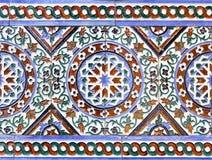 Moorish ceramic tiles. In the Real Alcazar, Seville royalty free stock photos