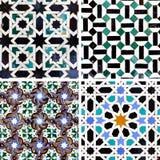Moorish ceramics. Ancient moorish ceramic tiles with pattern Royalty Free Stock Image