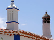 Moorish Chimneys Royalty Free Stock Images
