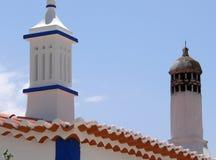 Moorish Chimneys. Moorish chimney stacks, Portugal Royalty Free Stock Images