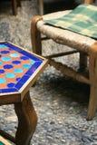 Moorish coffee table. Close up of Moorish coffee table Royalty Free Stock Photo